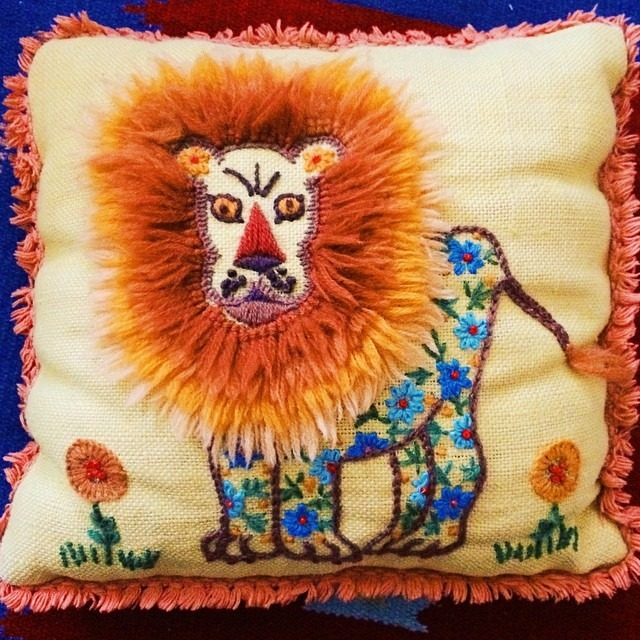 thriftscorethursday futuristichuman lion pillow