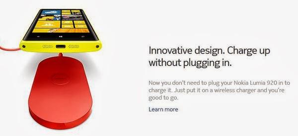 Lumia 920 無線充電