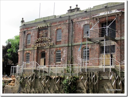 Scene's along the River Ouse. The Bonding Warehouse is up for re-development.