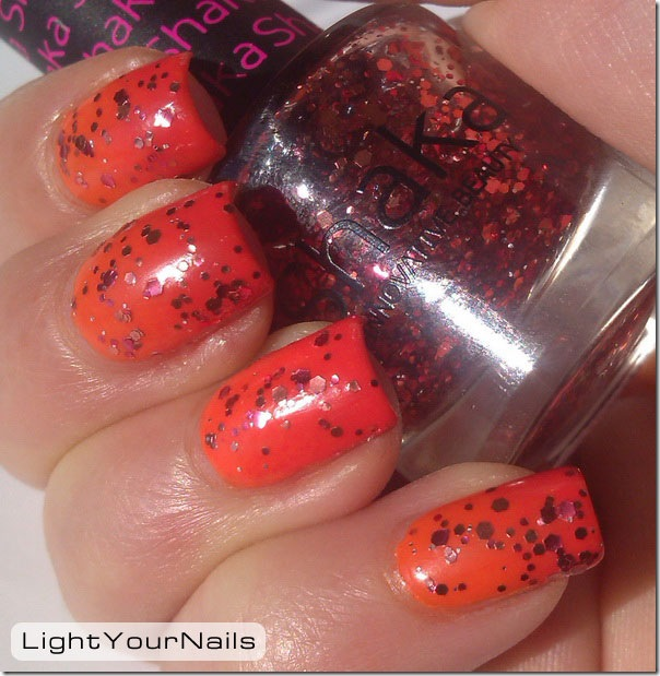 Sunset gradient orange pink Shaka Hot Love glitters Shaka Coral Bay