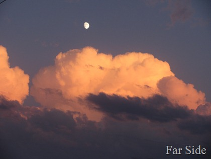 Clouds  and Moon October 02 2011