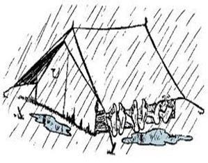 barraca chuva