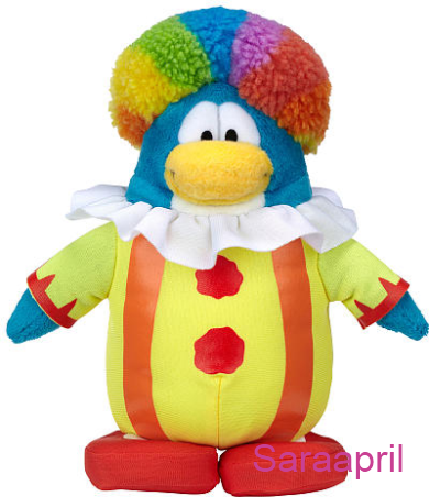 Club Penguin 6.5 Inch Plush – Clown :)