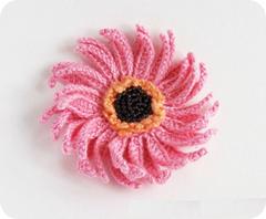 flor espiral crochet