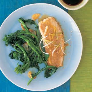 Steamed Tilapia with Sesame Seeds, Ginger and Green Onion.