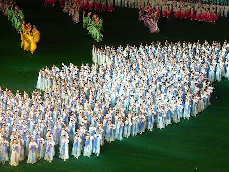 Mega show Coreea de Nord: Arirang Phenian