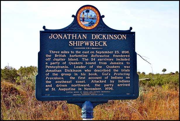 05b - Jonathan Dickinson Shipwreck Sign