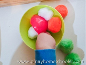 St. Patrick's Activity: Scooping Giant Pompoms