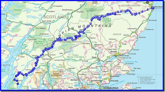The outline of Martin and Sue's 2012 TGOC route
