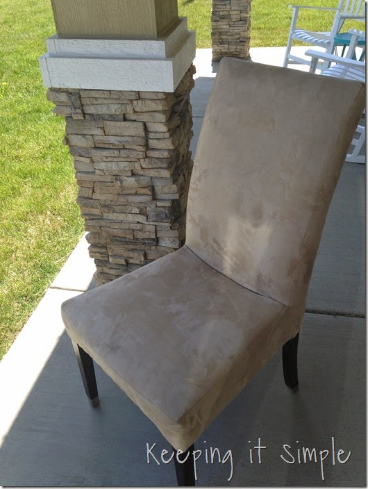 Tremendous Diy Furniture Idea 5 Accent Chair Redo Keeping It Simple Bralicious Painted Fabric Chair Ideas Braliciousco