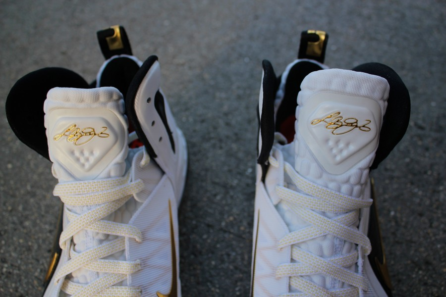 The Latest Nike Zoom Lebron 9 P.S. Elite Home White Gold Lebron