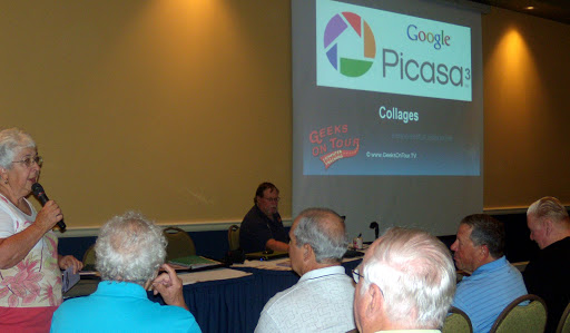 Catherine introducing us at Sun City Hilton Head Picasa seminar