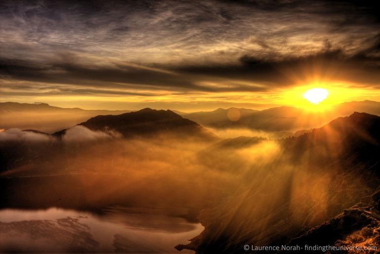 sunrise over Cuilatoa crater Ecuador 2 scaled