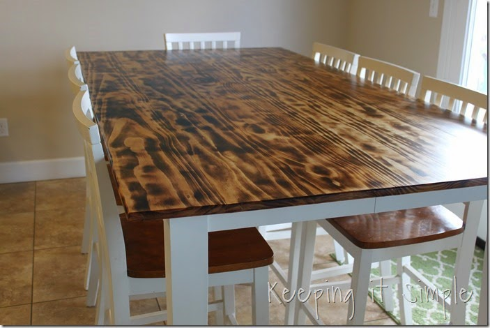 DIY-Dining-Table-With-Burned-Wood-Finish #Bernzomatic (42)