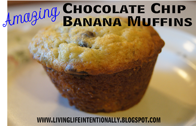 Chocolate Chip Banana Muffin Recipe #recipes