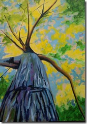 tree landscape painting