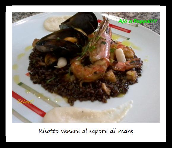 Immagine del piatto risotto venere al sapore di mare