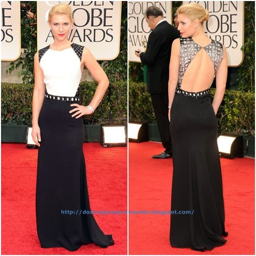 Claire Danes arrives at the 69th Annual Golden Globe Awards-a