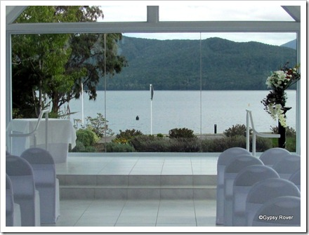 Te Anau. A wedding chapel with a difference overlooking Lake Te Anau.