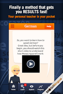 Learn German with MosaLingua - screenshot thumbnail