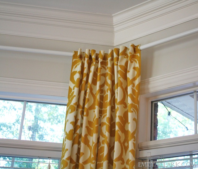 Hanging Curtains On Angled Windows