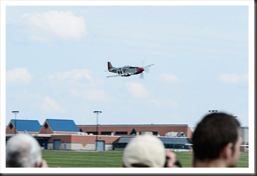 Low pass from a P51 Mustang
