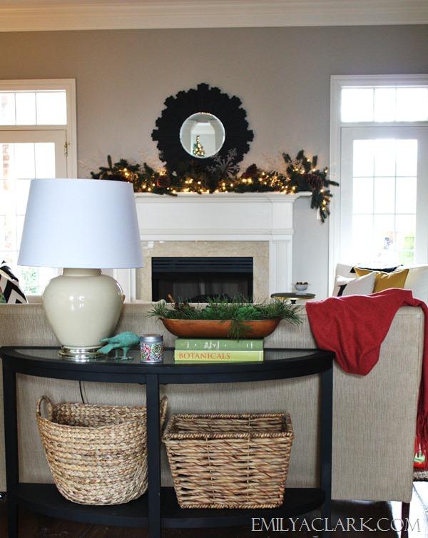 Christmas Mantel  emilyaclark.com