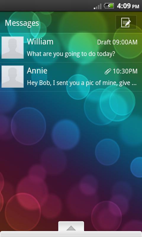 GO SMS Theme Bokeh Brilliance - screenshot