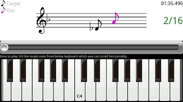 Screenshot of Speed Piano Learning