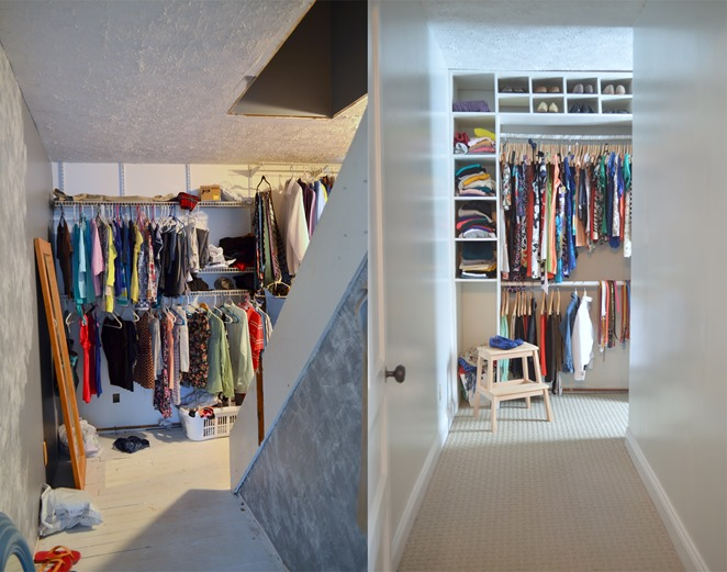 closet carpet makeover