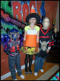 Transformer, Miss Candy Corn and Jason the killer