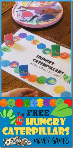 photo about Printable Money Games identified as Totally free Hungry Caterpillars Fiscal Activity 123 Homeschool 4 Me