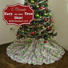 Easy No sew Christmas Tree skirt