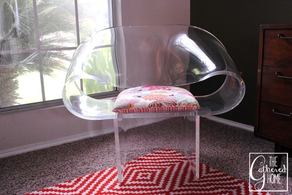 van horn lucite ribbon chair