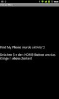 Screenshot of Find My Phone (incl. demute)
