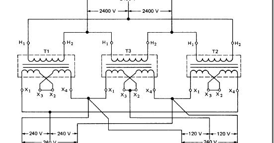 transformer connections for three phase circuits feeding. Black Bedroom Furniture Sets. Home Design Ideas