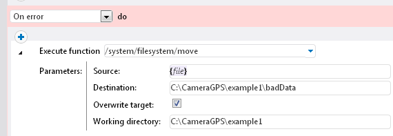 The filesystem move function used in a FlowForce Server job