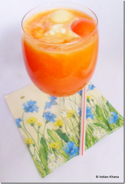 Easy summar drink recipe with fruits papaya n pear juice