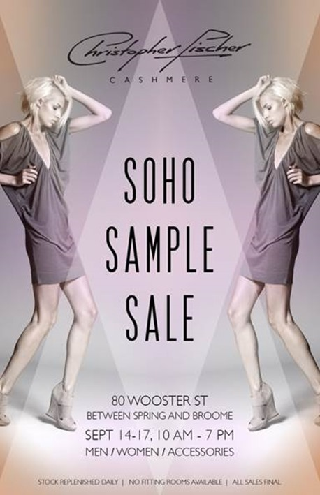 cashmere sample sale