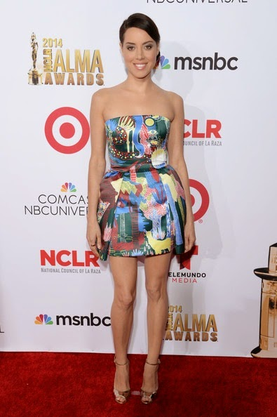 Aubrey Plaza attends the 2014 NCLR ALMA Awards