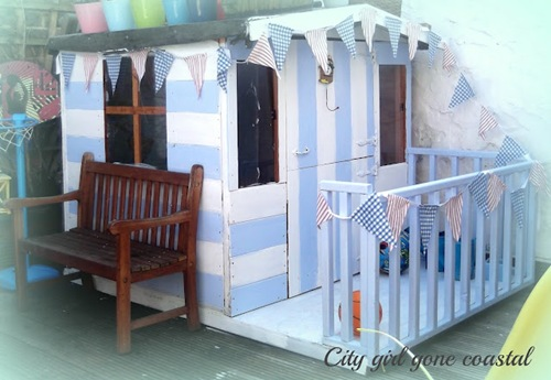 finished beach hut