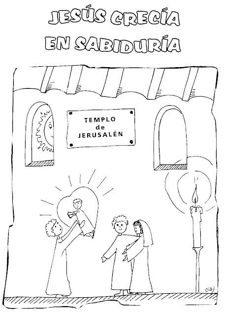 La Vida De Jesus En Dibujos Para Colorear