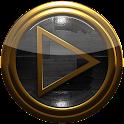 poweramp skin black wood icon