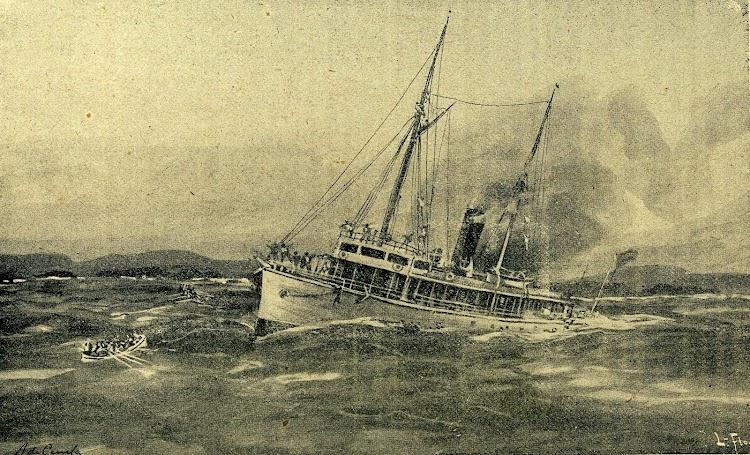 El TRITON hundiendose. REVISTA DE NAVEGACION Y COMERCIO. Año 1897. Pag. 603.JPG