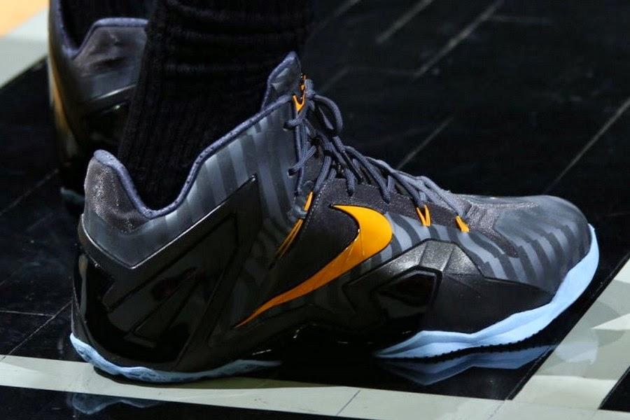 cb4babe725e King James Wears Nike LeBron 11 Elite Finals PE on Media Day