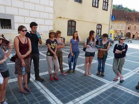 Turisti straini in Brasov.