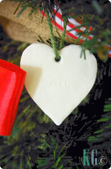 stamped clay tags christmas decorations