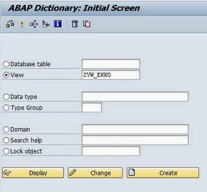 Database view - Team ABAP