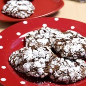 Choc Fudge Crackle Cookies