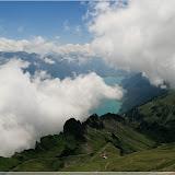 Brienzer See mit Zahnradbahn im Vordrgrund